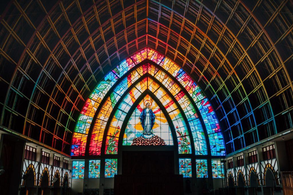 St. Mary stain glass window